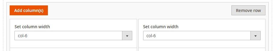 set columns width