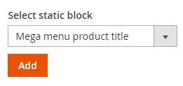 add static block to the menu