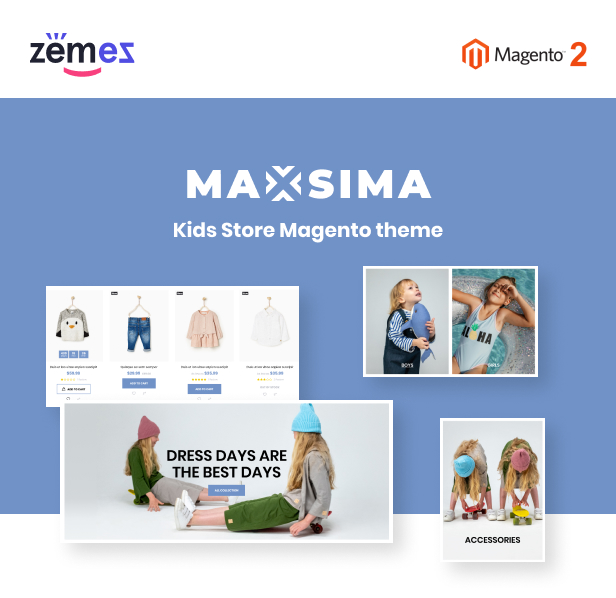 Maxsima Kids Store Magento 2 Theme - 1