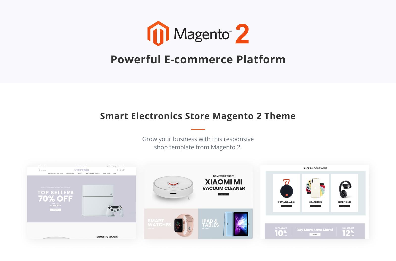 Virtroni - Smart Electronics Store Magento 2 Theme - 1