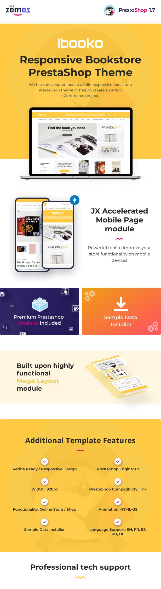Ibooko - Responsive Bookstore PrestaShop Theme - 1