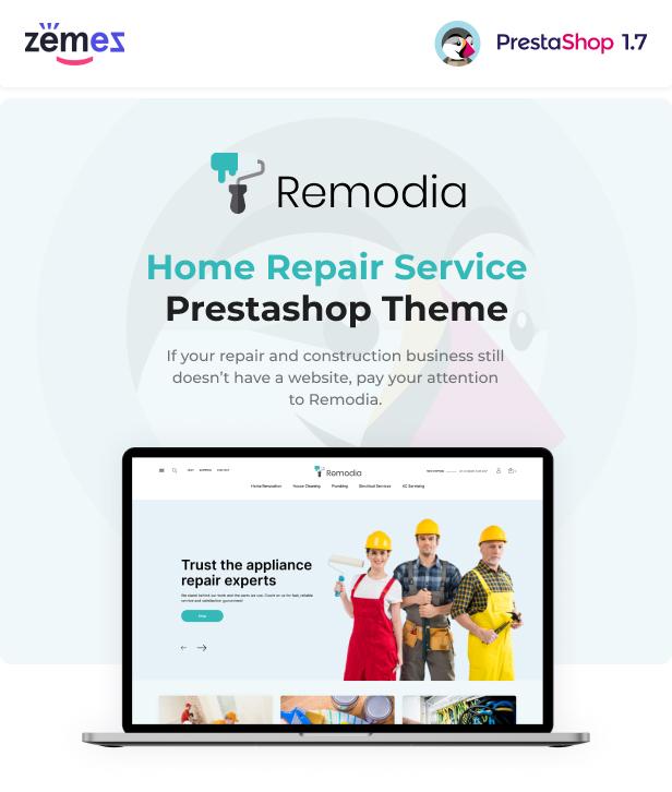 Remodia - Home Repair Service PrestaShop Theme - 1