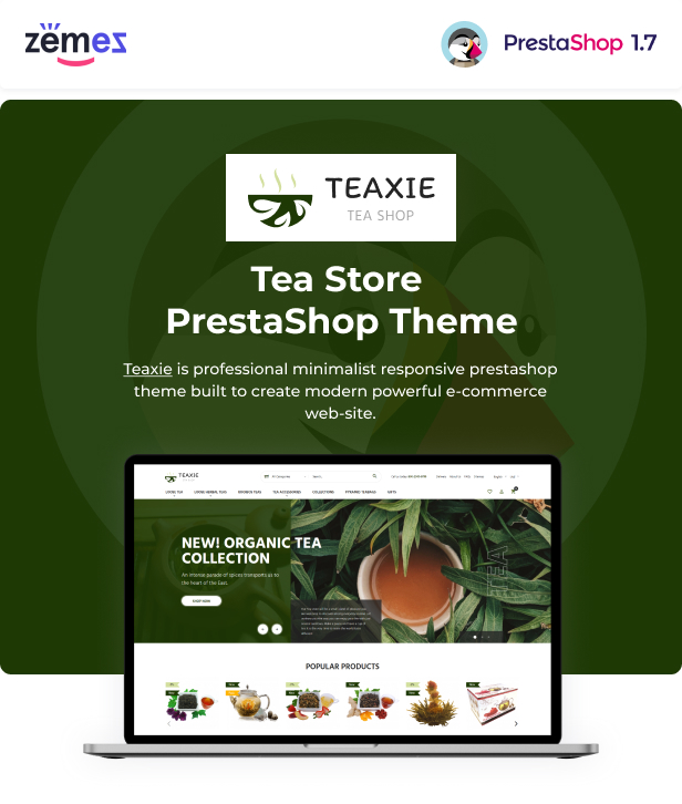 Teaxie - Tea Store PrestaShop Theme, Organic and Herbal Tea - 1