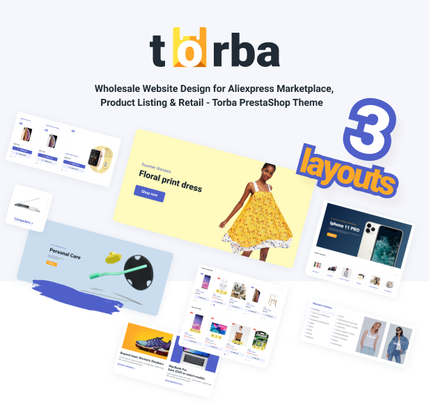 Torba PrestaShop Theme - Wholesale Website Design for Marketplace and Retail - 4