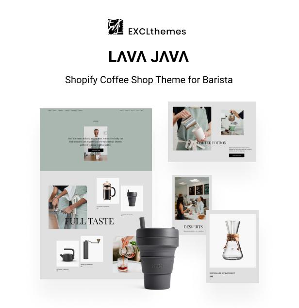 Lava Java- Shopify Coffee Shop Theme for Barista - 1