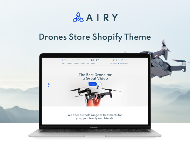 Airy - Drones Store Shopify Theme - 2