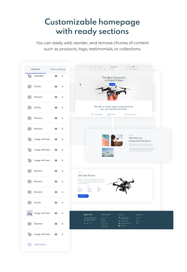 Airy - Drones Store Shopify Theme - 3