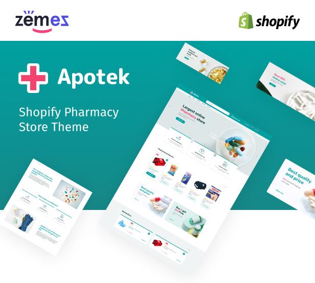 Apotek - Shopify Pharmacy eCommerce Store Theme - 1