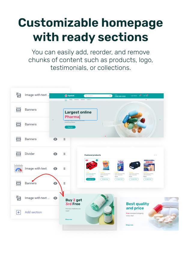 Apotek - Shopify Pharmacy eCommerce Store Theme - 4