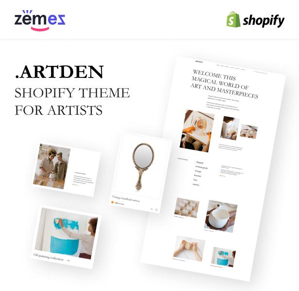 Artden - Shopify Theme for Artists - 1