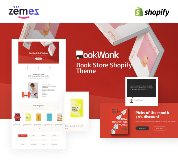 BookWonk - Book Store Shopify Theme - 1