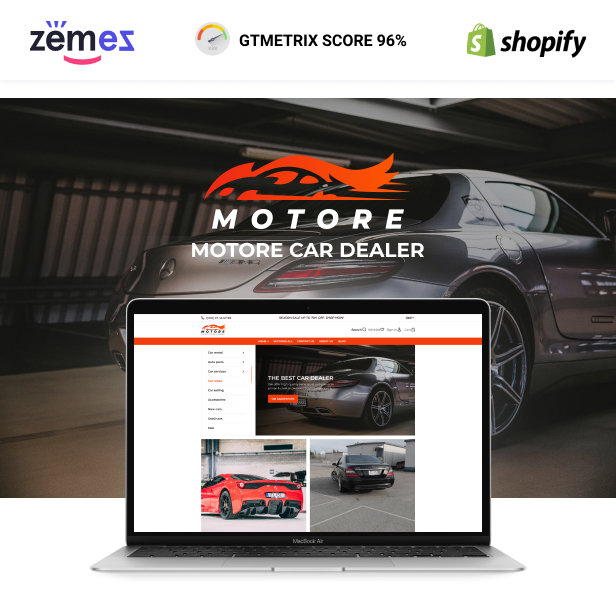 Motore - Shopify Car Dealer Theme, Car Selling, Used Car Parts - 1