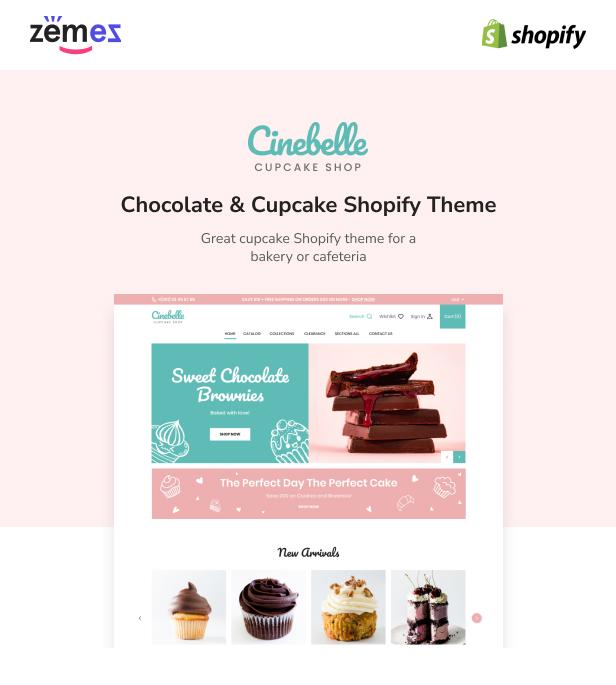 Cinebelle - Chocolate & Cupcake Shopify Theme - 1