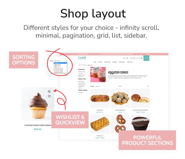 Cinebelle - Chocolate & Cupcake Shopify Theme - 6
