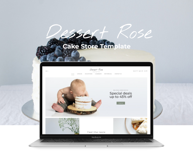 Dessert Rose - Responsive Cake Shop Shopify Theme - 2