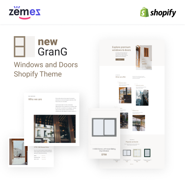 GranG - Windows and Doors Shopify Theme - 1