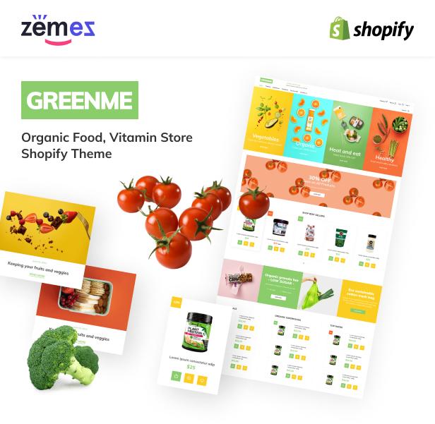 GreenMe - Organic Food, Vitamin Store Shopify Theme - 1