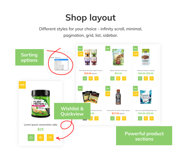 GreenMe - Organic Food, Vitamin Store Shopify Theme - 7