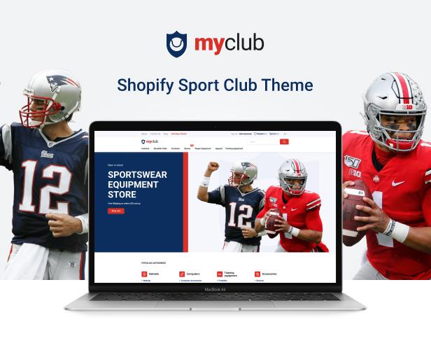 Myclub - Shopify Sport Club Theme - 2