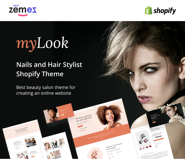MyLook - Nails and Hair Stylist Shopify Theme - 1