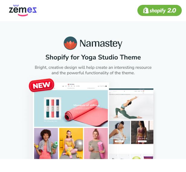 Namastey - Shopify for Yoga Studio Theme - 1