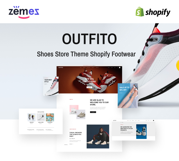OutFito - Shoes Store Theme Shopify Footwear - 1