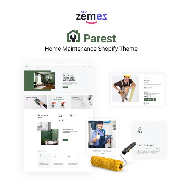 Parest - Home Maintenance Shopify Theme - 1