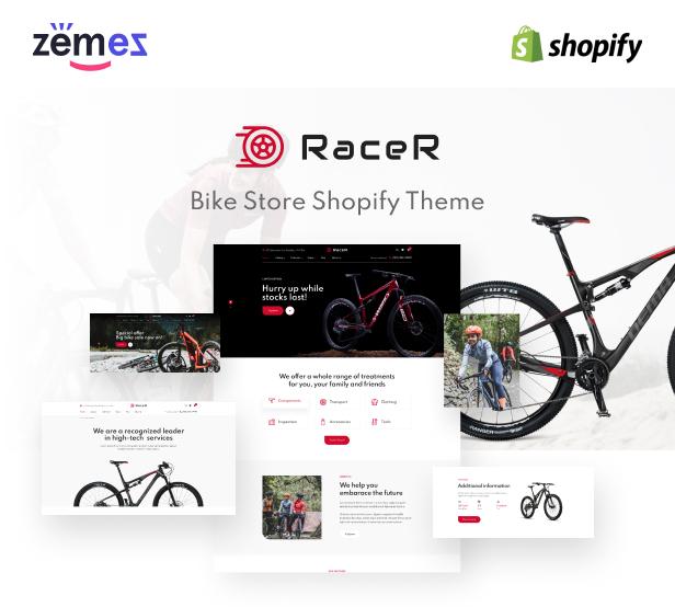 RaceR - Super Clean Bike Store Shopify Theme - 1