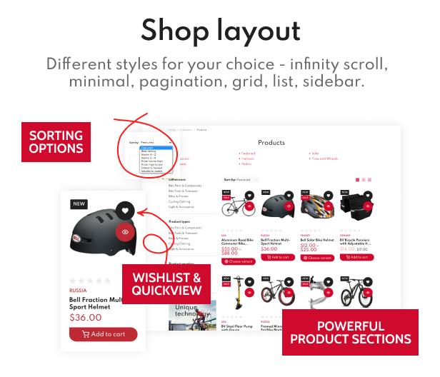 RaceR - Super Clean Bike Store Shopify Theme - 7