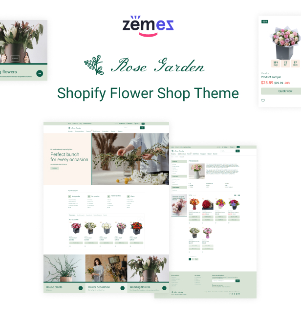 RoseGarden - Shopify Flower Shop Theme - 1