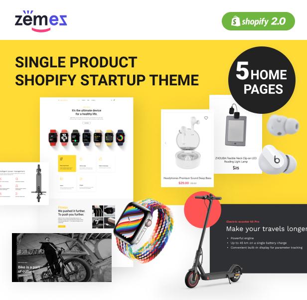 Single Product Shopify Startup Theme - 1