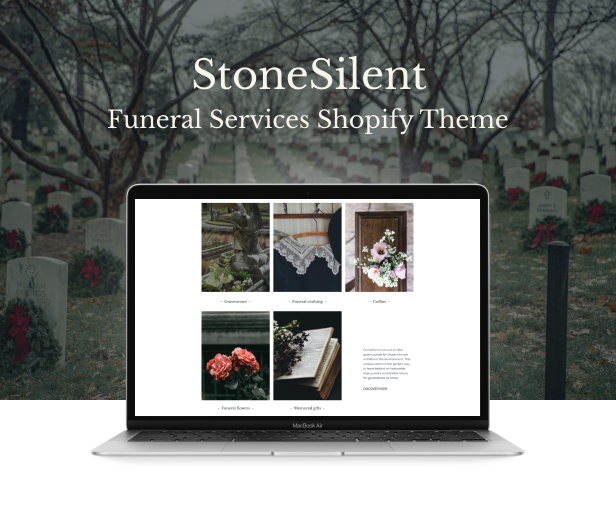 StoneSilent - Funeral Services Shopify Theme - 2