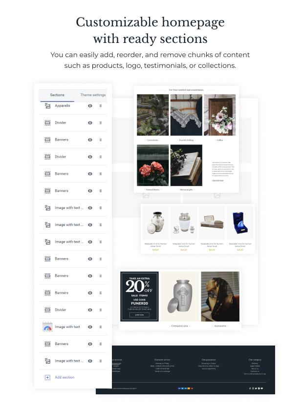 StoneSilent - Funeral Services Shopify Theme - 3