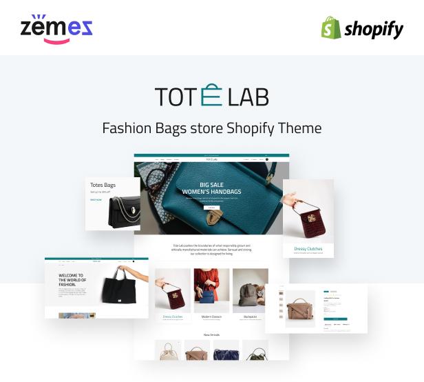 Tote Lab - Fashion Bags Store Shopify Theme - 1