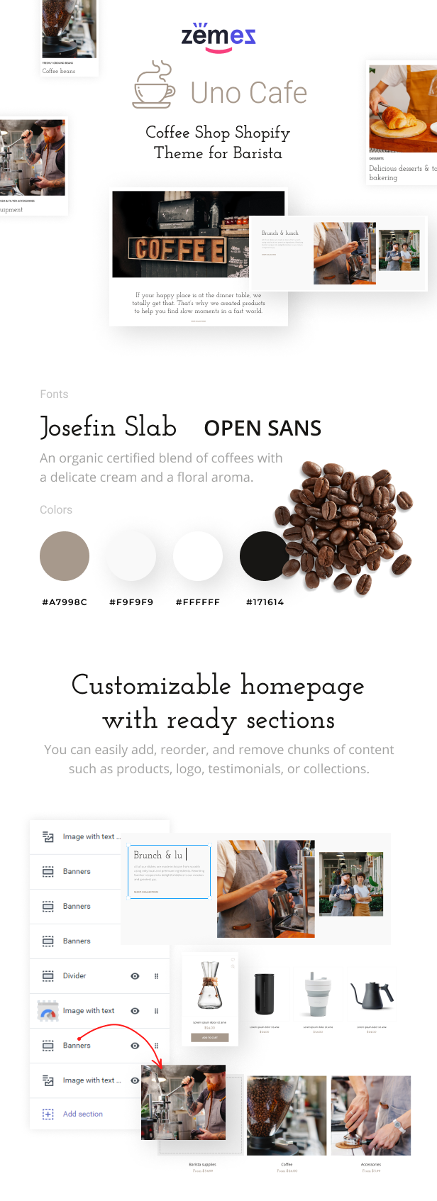 Uno Cafe - Coffee Shop Shopify Theme for Barista - 1